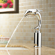 Bathroom Sink Faucet in Contemporary Design Cold Sensor Chrome Finish Faucet