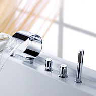 Sprinkle® by Lightinthebox - Waterfall Tub Faucet with Hand Shower (Curved Shape Design)