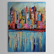 Hånd-malede Abstrakt / Landskab / Abstrakt Landskab Et Panel Canvas Hang-Painted Oliemaleri For Hjem Dekoration