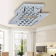 Max 20W Flush Mount ,  Modern/Contemporary Electroplated Feature for Crystal / LED MetalLiving Room / Bedroom / Kitchen / Study