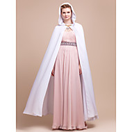 Wedding  Wraps / Hoods & Ponchos Capes Chiffon White Wedding / Party/Evening Clasp