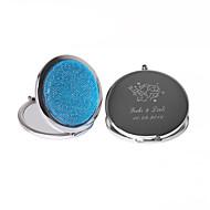 personalizado cromo favor espejo con el diamante de acrílico (más colores)