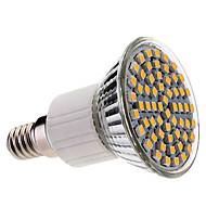 E14 60x3528 SMD 3.5W 400LM 2800-3200K Lämmin valkoinen LED spottilamppu (220-240V)
