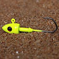 פיתיון קשה / פיתיון מתכת / ג'יג / פתיונות דיג פיתיון מתכת / פיתיון קשיח / קרסי הקפצה (Jigs) יח ' g / 3/4 אונקיה mm אינץ ' צהוב מתכתדיג
