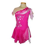Dumb Spandex léger élastique Soie Mousseline net de patinage artistique Vêtements Rose