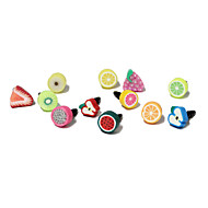 Fruit 3.5 MM Polymer Clay Anti-dust Earphone Jack for iPhone and iPad(Random Color)