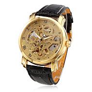 WINNER® Men's PU Analog Mechanical Wrist Watch (Black) Cool Watch Unique Watch Fashion Watch
