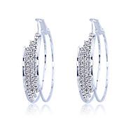 Hoop Earrings Women's Alloy Earring Crystal