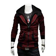 Herre-hættetrøje kontrast farve kausal tynd jakke