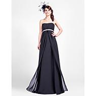 Lanting Bride® Longueur Sol Mousseline de soie Robe de Demoiselle d'Honneur  Fourreau / Colonne Sans Bretelles Grande Taille / Petite avec