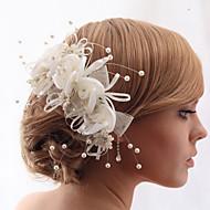 Capacete Pentes de Cabelo/Flores Casamento/Casual/Ao ar Livre/Ocasião Especial/Escritório e CarreiraCetim/Tecido/Crostal/Tule/Imitação de