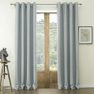 TWOPAGES® Two Panels  Classic Embossed Floral Polyester Blackout Curtain