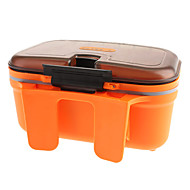 Plastic Lure Fishing Tackle Box Box (cor aleatória)