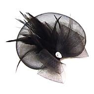Veren/Bergkristal/Net Vrouwen Helm Speciale gelegenheden Fascinators Speciale gelegenheden