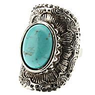 ženski tirkizni geometrijska luk srebrni prsten