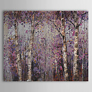 Hand-Painted Floral/BotanicalPastoral One Panel Canvas Oil Painting For Home Decoration