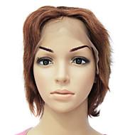 100% פאה מלאה חזית אמיתית אנושית שיער חום קצר שיער
