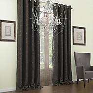 To paneler Vindue Behandling Neoklassisk , Blad Polyester Materiale Mørklægningsgardin forhæng Hjem Dekoration For Vindue