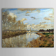 Famous Oil Painting Argenteuil Seen from the Small Arm of the Seine by Claude Monet