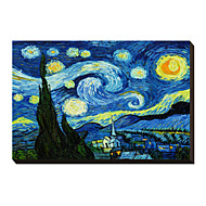 Starry Night c1889 by Vincent Van Gogh Famous Stretched Canvas Print
