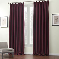 Two Panels Curtain Modern , Solid Polyester Material Blackout Curtains Drapes Home Decoration For Window