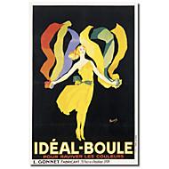 Painettu Canvas Art Vintage Ideal Boule by Vintage Julisteet venytetty Frame