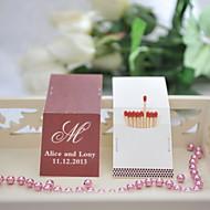 decoração do casamento matchbooks personalizado - inicial (conjunto de 50)