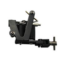 Solid Iron Handmade Tattoo Machine 10 Wrap Coils Gun Liner