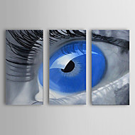 Ručně malované Lidé Tři panely Plátno Hang-malované olejomalba For Home dekorace