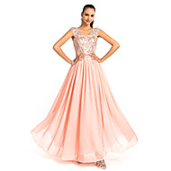 TS Couture® Formal Evening / Prom / Military Ball Dress - Pearl Pink Plus Sizes / Petite Sheath/Column Straps Floor-length Chiffon