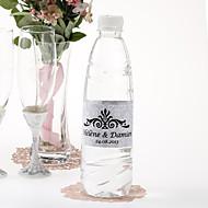 gepersonaliseerde fles water sticker - vorstelijk (zilver / set van 15)