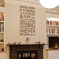 palavras e citações adesivos de parede têm a esperança nunca desista decalques de parede laváveis