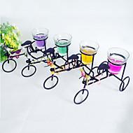 좋은 철 세발 자전거 모양의 티 라이트 홀더 (색상 선택)