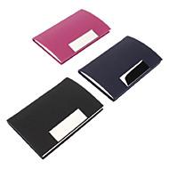 Colorful PU Läder Visitkortshållare (slumpvis färg)