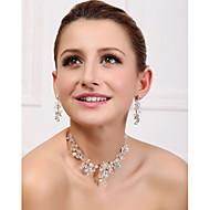 Women's Alloy/Imitation Pearl Jewelry Set Crystal