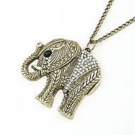 Lovely Alloy With Rhinestone/Calf Elephant Pendant Sweater Chain Women's Necklace(More Colors)