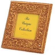 flor clásica resina marco de fotos plaza allen bronce