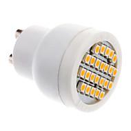 GU10 2W 24x3528SMD 70-100LM 3000-3500K Warm White Light LED Spot Bulb (85-265V)