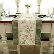 French Country Style Poly/Cotton Table Runners