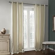 dois painéis sólida cortina térmica revestimento bege