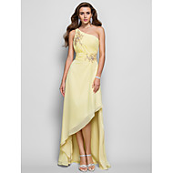 TS Couture Prom / Formal Evening Dress - Daffodil Plus Sizes / Petite A-line / Princess One Shoulder Asymmetrical Chiffon