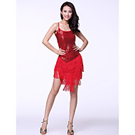 Dancewear Tulle Tassels With Sequins Latin Dance Dress for Ladies(More Colors)