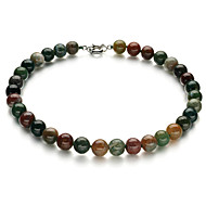 17 Inch Rainbow Jade Womens Necklace