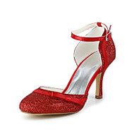 Women's Wedding Shoes Heels Heels Wedding/Dress Black/Red/Ivory/White/Champagne