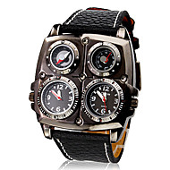 Men's Watch Military Dual Time Zones Themometer and Compass Cool Watch Unique Watch