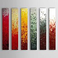 Hand målad abstrakt oljemålning Med Sträckt Frame Set med 6 1308-AB0566