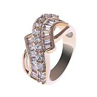 18K S & V הנשים עלה טבעת זהב זירקון ציפוי BBR-00285_1