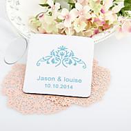 Personalizzati Vintage Wedding Floral Coasters-Set di 4 (più colori)