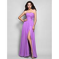 TS Couture® Dress - Lilac Plus Sizes / Petite Sheath/Column Sweetheart Floor-length Chiffon
