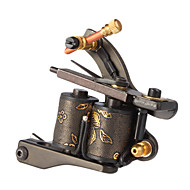 Carbon Steel Stamping Dual Coils 10 Wraps Tattoo Machine Gun for Liner